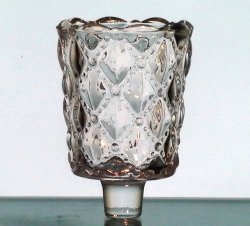 Peg Votive Candle Holder Partylite Quilted Bubbles Clear P9246