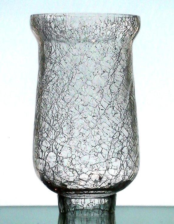 Crackle Glass Hurricane Shade 1 7 8 Fitter X 6 75h X 3 5