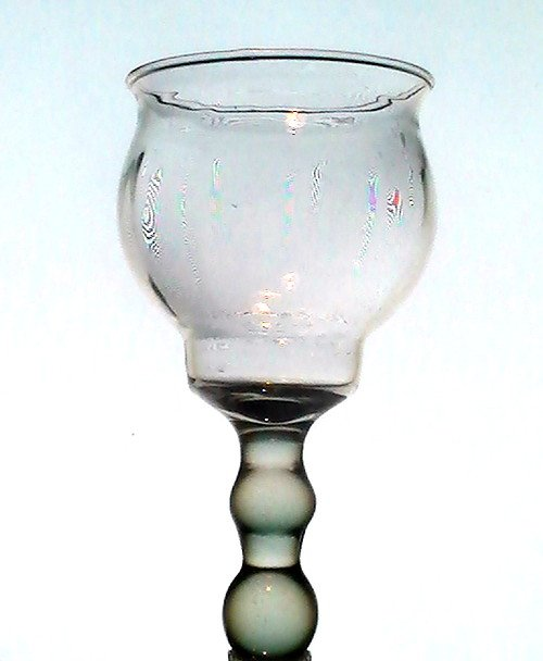 Hanging Candle Holder Ribbed Teardrop 6.5 inches x 3.25