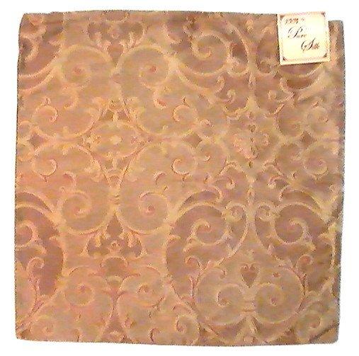 Kirklands Throw Pillow Covers : Zippered Pillow Cover Kirklands Gold Copper 16.75 Square Silk