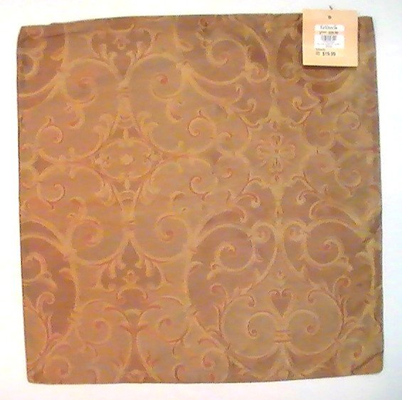 Zippered Pillow Cover Kirklands Gold Copper 16.75 Square Silk