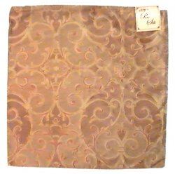 Zippered Pillow Cover Kirklands Gold Copper 16.75 Square Silk, Lot of 2