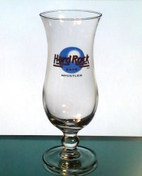 Hard Rock Cafe Whistler BC Canada Hurricane Glass Blue Logo Closed Collectible