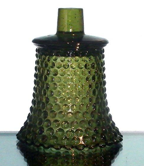 Home Interiors Peg Votive Holder Hobnail Olive Green Vintage