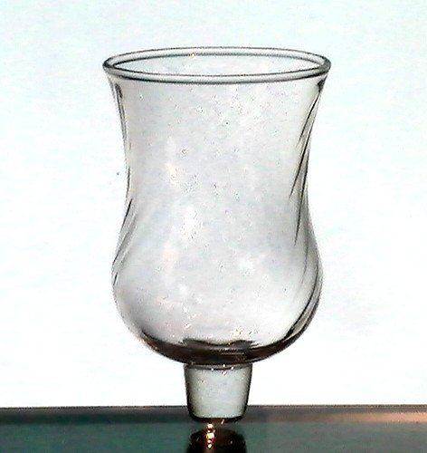 Home Interiors Peg Votive Candle Holder Diagonal Swirls