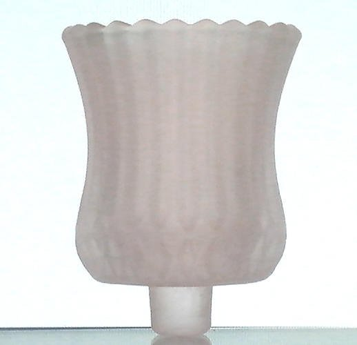 Partylite Peg Votive Holder Frosted White Ridged Diamond Cut