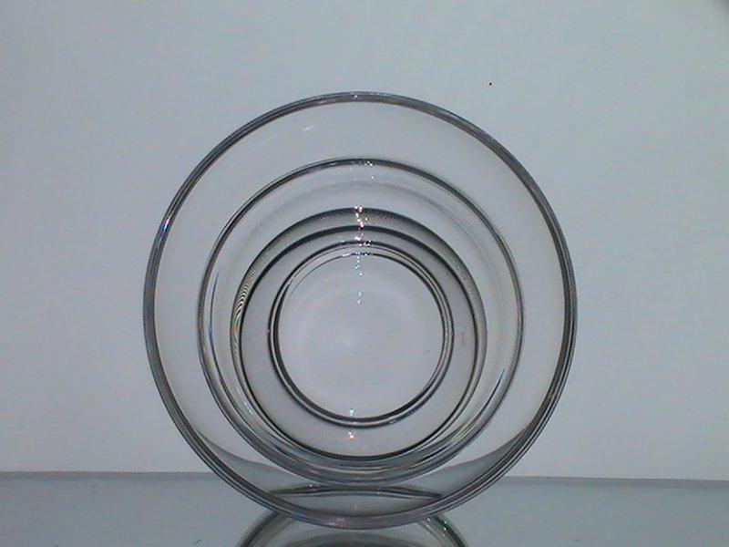 Hanging Candle Holder 4.5w x 3 1/8h Flared Rim Crystal Flat Bottom