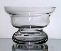 Hanging Candle Holder 4.5 w x 3 1/8 h Flared Rim Crystal Flat Bottom