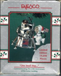 Enesco One Small Step Ornament 25th Anniversary of the Lunar Landing
