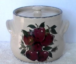 Bean Pot Casserole Crock Apples Home and Garden Party