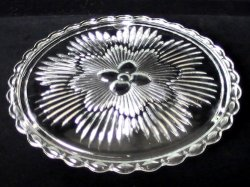 '.Cake Plate with Floral Center.'