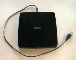 Dell External USB DVDRW Drive GP60N Black 5GTT7 Slim Multi Recorder