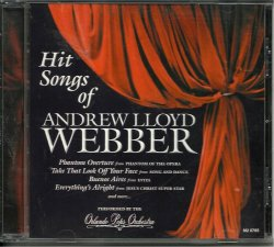 Hit Songs of Andrew Lloyd Webber by Orlando Pops Orchestra CD 056775076528