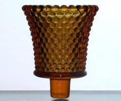 Home Interiors Peg Votive Candle Holder Hobnail Amber Vintage