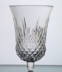 Home Interiors Peg Votive Candle Holder Crystal Windsor 11334 Lg 5.5 in