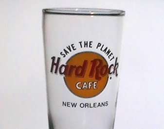 Hard Rock Cafe New Orleans Footed Slim Pilsner 14 oz