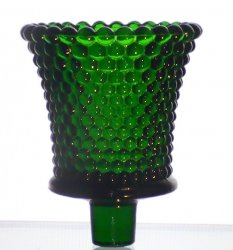 Home Interiors Peg Votive Candle Holder Dark Emerald Green Hobnail
