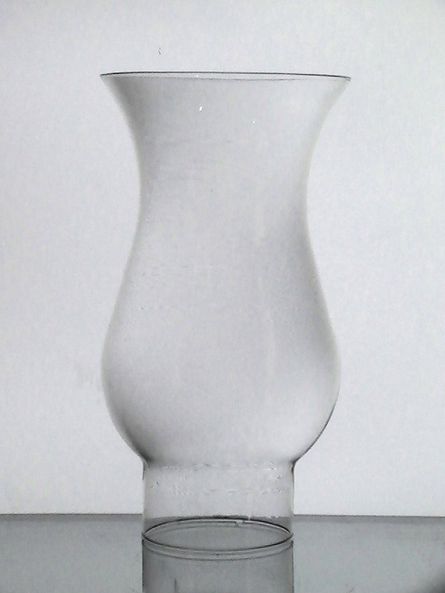Hurricane Lamp Shade 2.625 inch fitter x 8 x 4.25 Bulged Flare