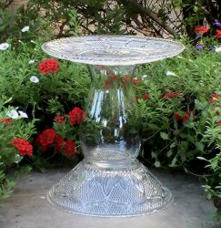 Moms Pennies From Heaven Glass Bird Baths Feeders