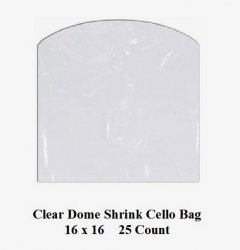 '.Cello Dome Shrink Bags 16 inch.'