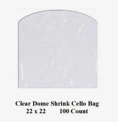 '.Cello Dome Shrink Bags 22 inch.'