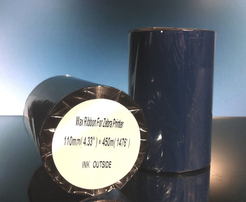 Thermal Ribbon for Zebra Printer 4.33 in x 1476 Ft 1 inch Core Wax  Note: Listing is for ONE roll, not two.