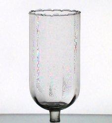 Home Interiors Peg Votive Holder Lamplight Clear Crimped Tall XL 1141-BL