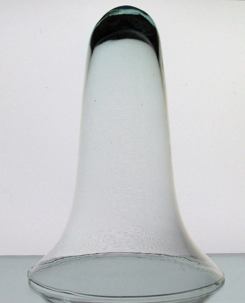 Hanging Cone Wall Vase Vessel Clear 9 75 X 6 75 Clear