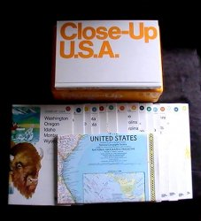National Geographic Close-up USA Map Box Set 1986 16 Maps with Index