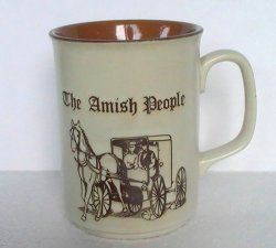 '.Coffee Mug Cup Amish People.'
