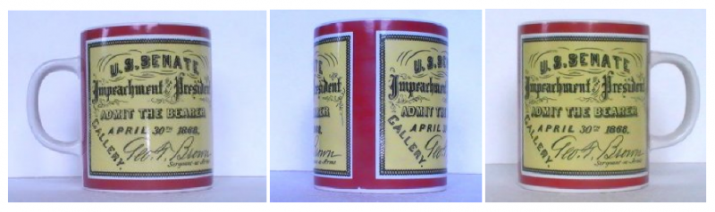 Vintage Coffee Mug Impeachment of the President 1974 8 Oz