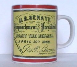 Vintage Coffee Mug Impeachment of the President 1974 8 Oz