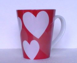 '.Coffee Mug Starbucks Hearts.'