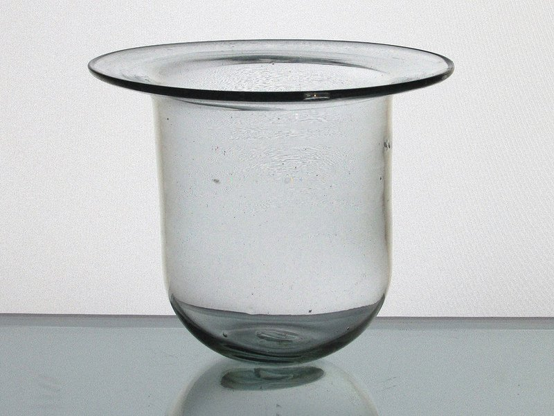 Hanging Candle Holder Flat Rim Clear 5 X 4 Hch004 Oos