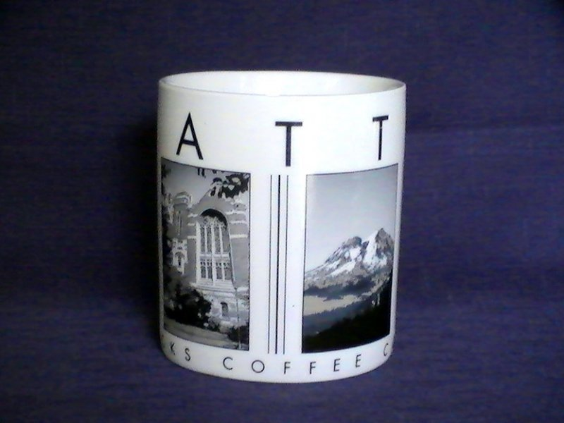 Starbucks Coffee City Scenes Series SEATTLE 2005 18 Oz Mug Cup