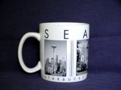 Starbucks Coffee City Scenes Series SEATTLE 2003 18 Oz Mug Cup