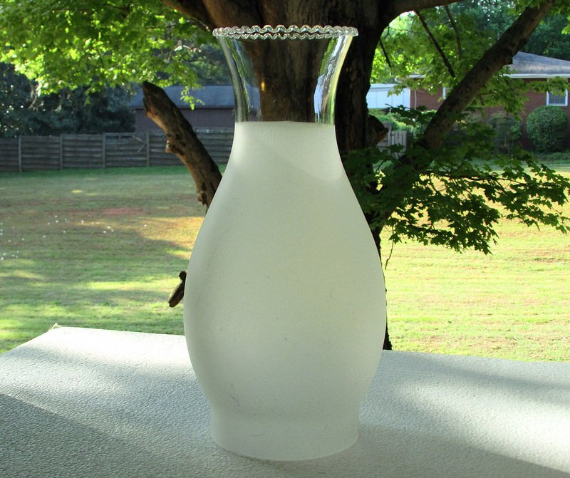 Hurricane Shade 3 4 Frosted 3 3 8 Inch Fitter X 9 5 X 3 25
