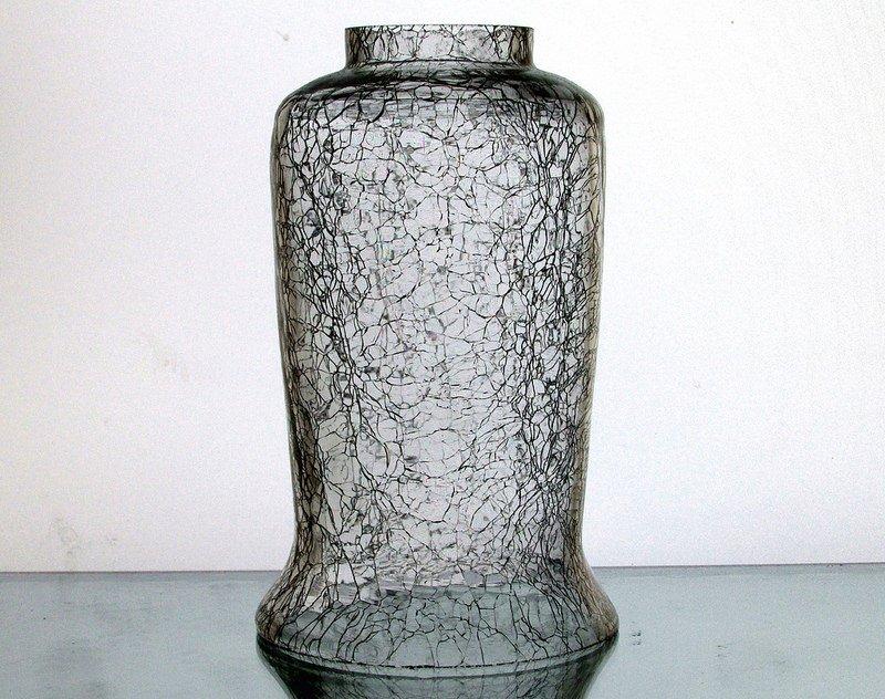 Crackle Glass Hurricane Shade 2 inch fitter x 6 5/8 x 3 7/8