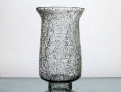 Crackle Glass Hurricane Shade 2 inch fitter x 6 5/8 x 3 7/8