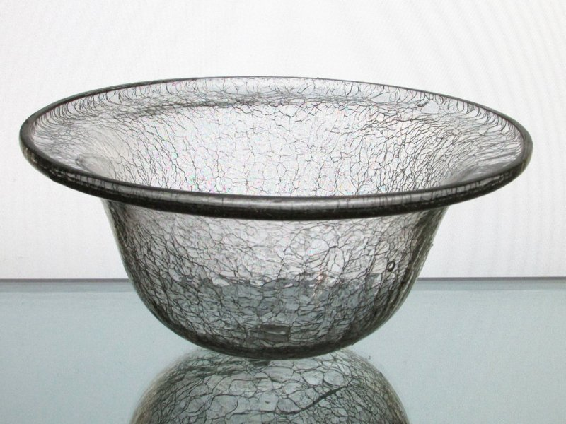 Hanging Candle Holder Bowl 7 5 8 X 3 5 Crackle Glass For 6