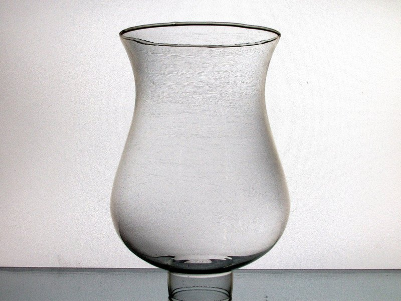 Hurricane Lamp Shade Glass Bulbous 1 7 8 Inch Fitter X 7 5