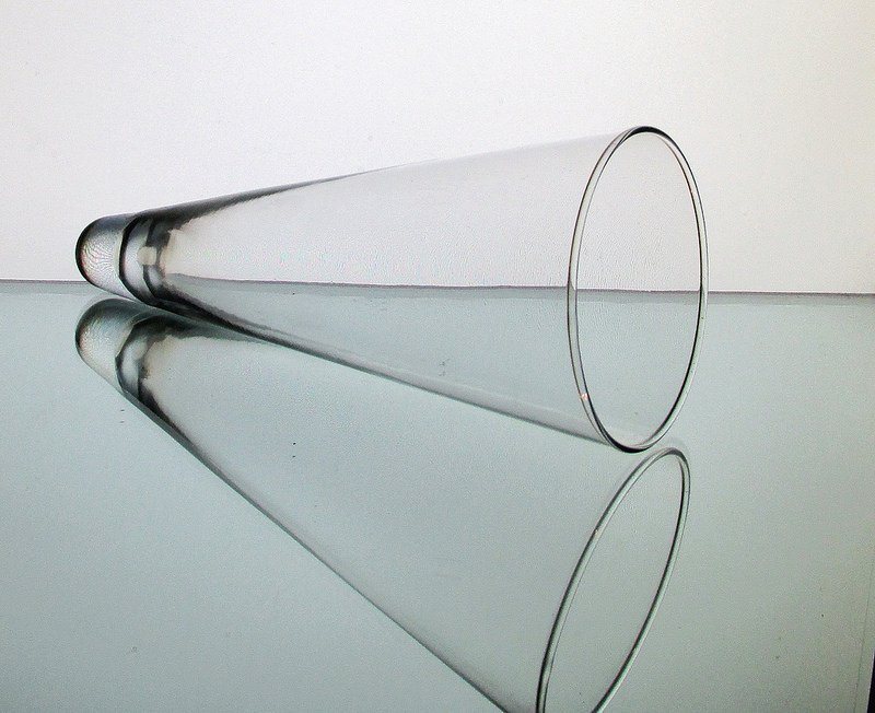 Cone Shaped Glass Vase: Hanging Cone Wall Vase Vessel Clear 9 X 3.75 Clear OOS