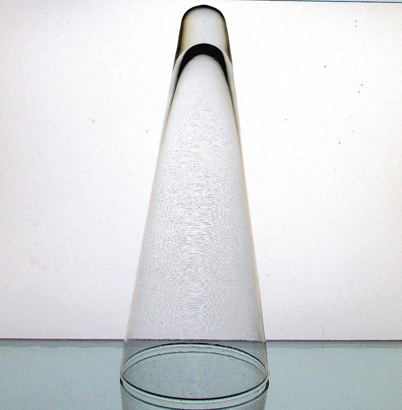Clear Glass Wall Decor : Hanging cone wall vase vessel clear oos