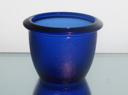 '.Candle Holder 2.5 x 3.25 Blue.'