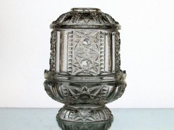 Home Interiors Fairy Lamp Candle Holder Star Diamond Cut Lantern Clear 1188