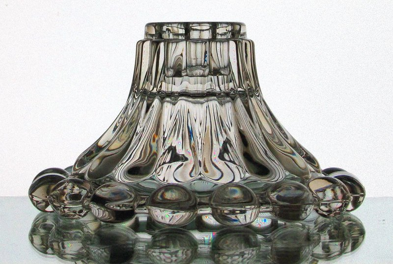 Hanging Candle Holder Crystal Balls Reversible Candle Stick for 3.5 inch ring. (Shown as a taper/Candle Stick Holder)