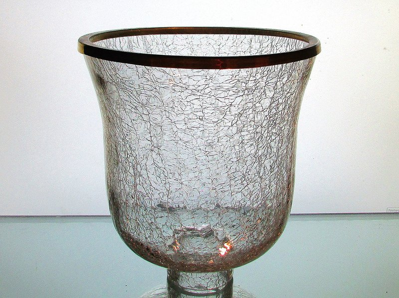 Crackle Glass Hurricane Shade Xl 2 25 Inch Fitter X 7 25 W