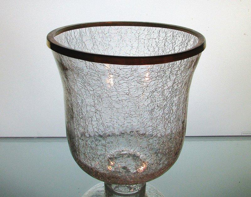 Crackle Glass Hurricane Shade Xl 2 25 Inch Fitter X 7 25 W