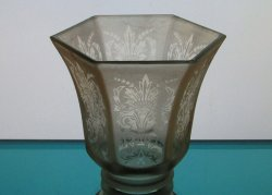 '.Glass Lamp Shade 2 1/8 fitter.'