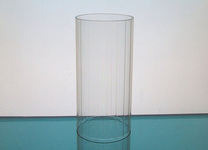 Hurricane Shade Sleeve Cylinder Clear 6.25 x 3 1/8 Paneled